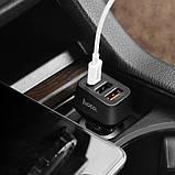 Автомобильное зарядное устройство Hoco Z15A QC3.0 (2USB+Type-C 4.8А) Black, фото 3