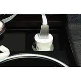 Автомобільний зарядний пристрій Hoco Z2 c Lightning USB (1USB 1.5 А) White, фото 3