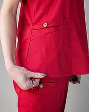 Медицинский женский костюм Toronto red 42,44, фото 2