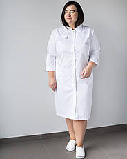 Медицинский женский халат Валери белый +SIZE, фото 2