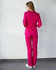 Медицинский женский костюм Лотос малина, фото 3