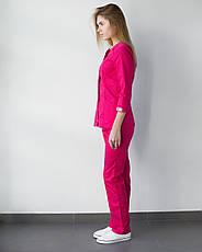 Медицинский женский костюм Лотос малина, фото 2