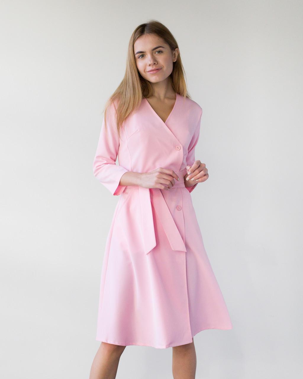 Медицинское платье Прованс розовое