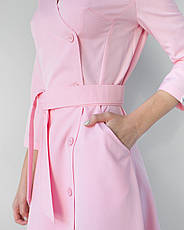 Медицинское платье Прованс розовое, фото 3