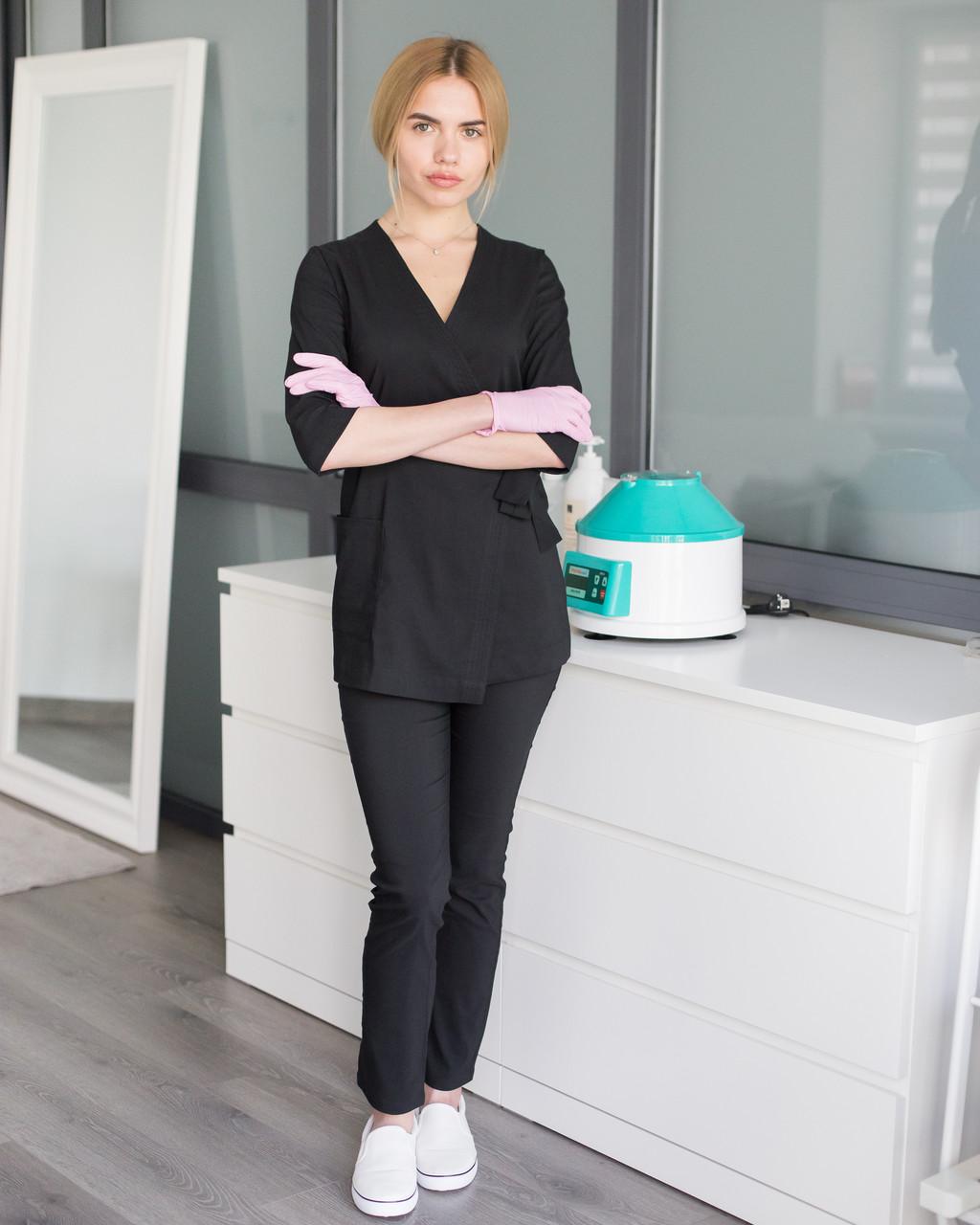 Медицинский женский костюм Шанхай черный