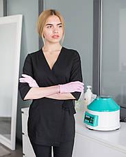 Медицинский женский костюм Шанхай черный, фото 2