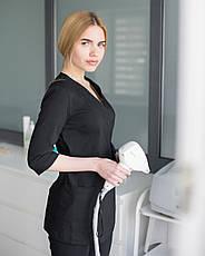Медицинский женский костюм Шанхай черный, фото 3