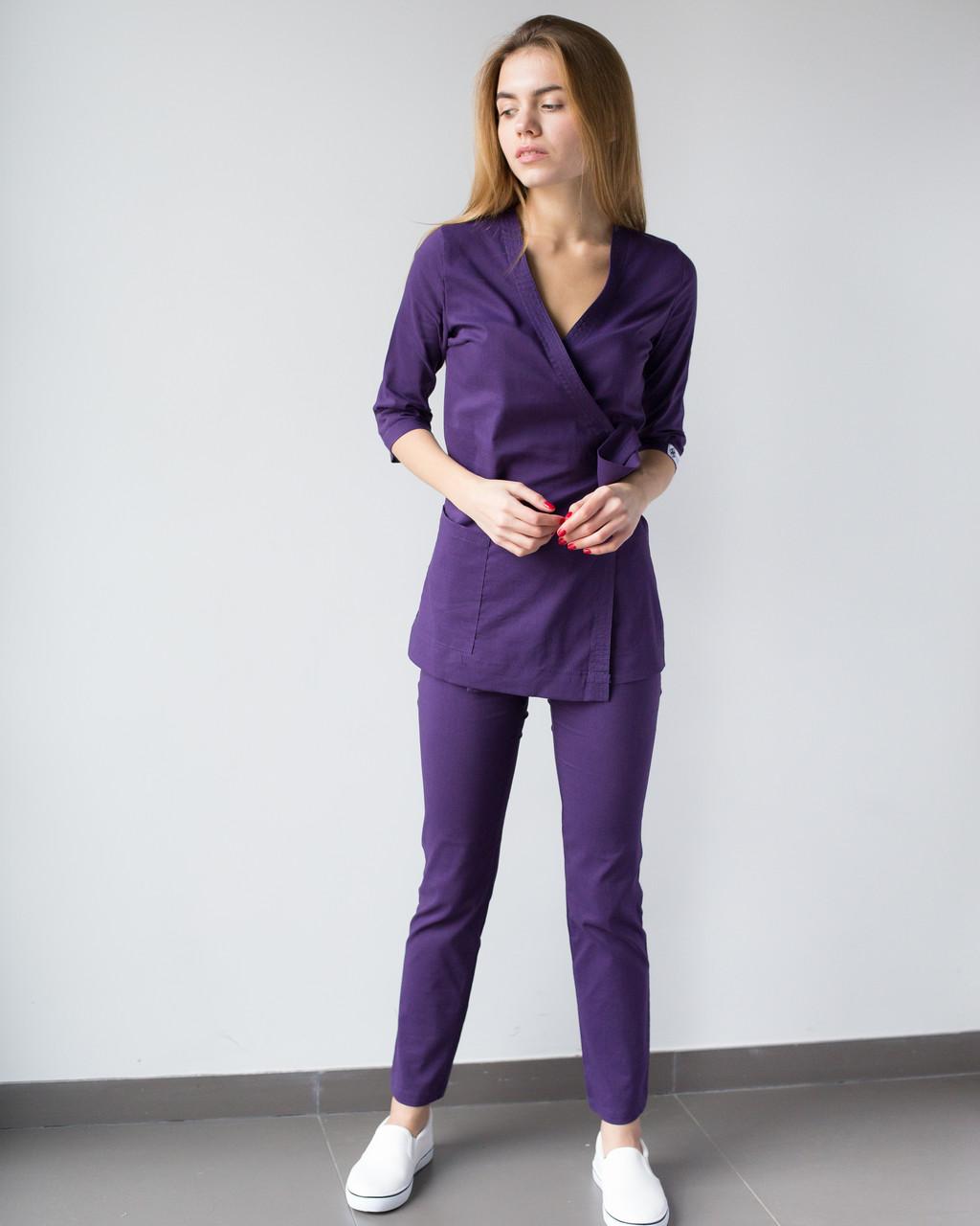 Медицинский женский костюм Шанхай фиолетовый