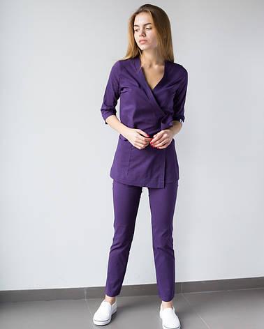 Медицинский женский костюм Шанхай фиолетовый, фото 2