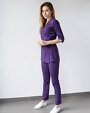 Медицинский женский костюм Шанхай фиолетовый, фото 3