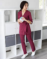 Медицинский женский костюм Шанхай марсала, фото 2