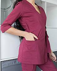 Медицинский женский костюм Шанхай марсала, фото 3