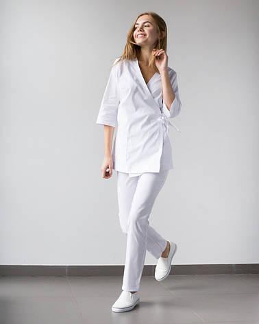 Медицинский женский костюм Шанхай белый, фото 2