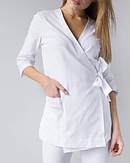 Медицинский женский костюм Шанхай белый, фото 3
