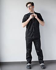 Медицинский костюм мужской Лондон черный-белый, фото 2