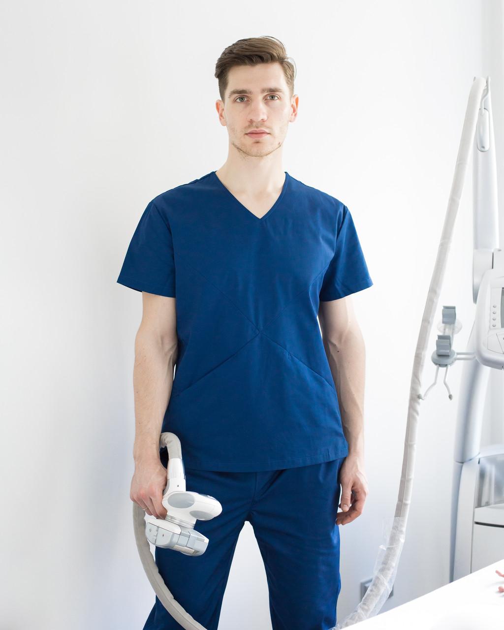 Медицинский мужской костюм Милан сапфир