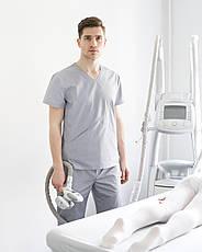 Медицинский мужской костюм Милан серый, фото 2