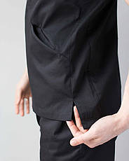 Медицинский мужской костюм Милан черный, фото 3