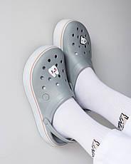 """Кроксы """"Crocband Platform Clog"""" серые, фото 2"""