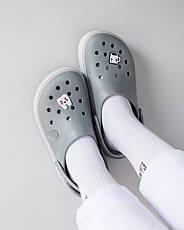 """Кроксы """"Crocband Platform Clog"""" серые, фото 3"""