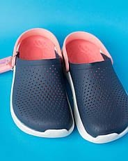 Кроксы женские синий-персик Lite Ride, фото 2