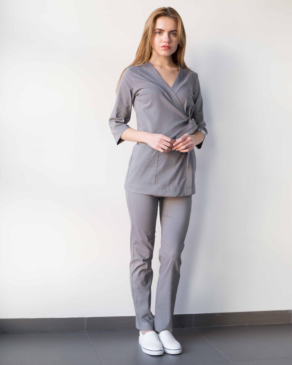 Медицинский женский костюм Шанхай серый