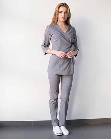 Медицинский женский костюм Шанхай серый, фото 2