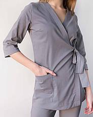 Медицинский женский костюм Шанхай серый, фото 3