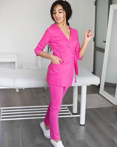 Медицинский женский костюм Шанхай розовый, фото 2