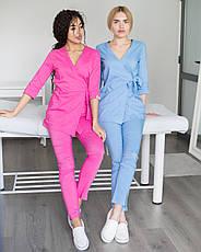 Медицинский женский костюм Шанхай розовый, фото 3