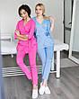 Медицинский женский костюм Шанхай розовый, фото 5