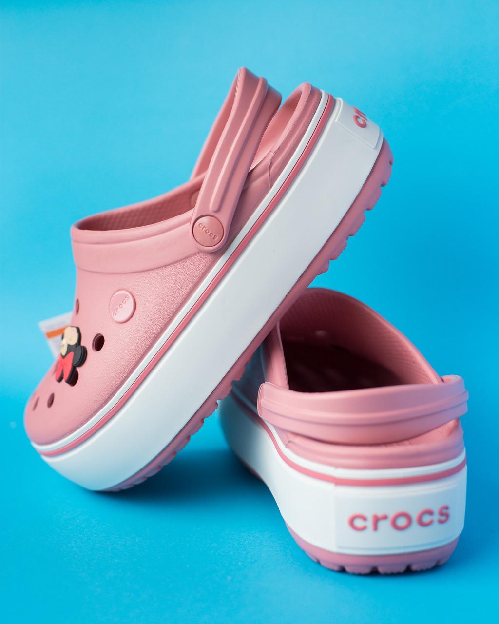 """Кроксы """"Crocband Platform Clog"""" розовые"""