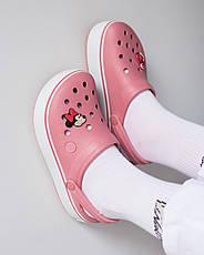 """Кроксы """"Crocband Platform Clog"""" розовые, фото 3"""