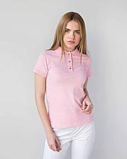 Медицинское поло женское розовое, фото 2
