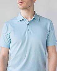 Мужское медицинское поло голубое, фото 3