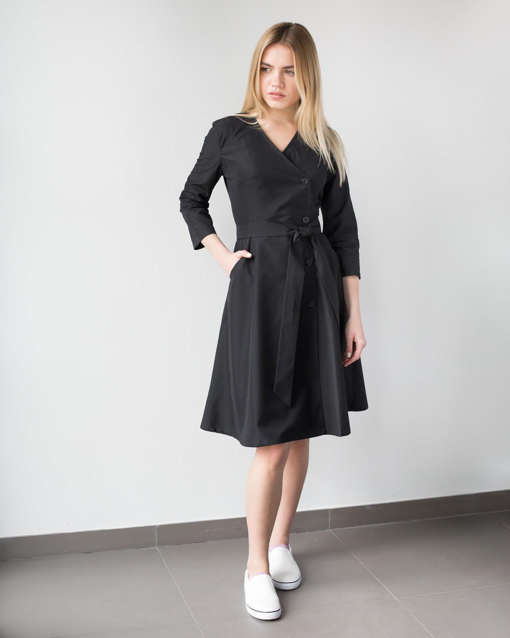 Медицинское платье Прованс черное