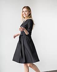 Медицинское платье Прованс черное, фото 3