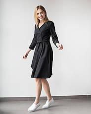 Медицинское платье Прованс черное, фото 2