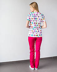 Медицинский женский костюм Топаз принт  Cats colored, фото 2