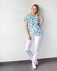 Медицинский женский костюм Топаз принт  Teeth smile, фото 3