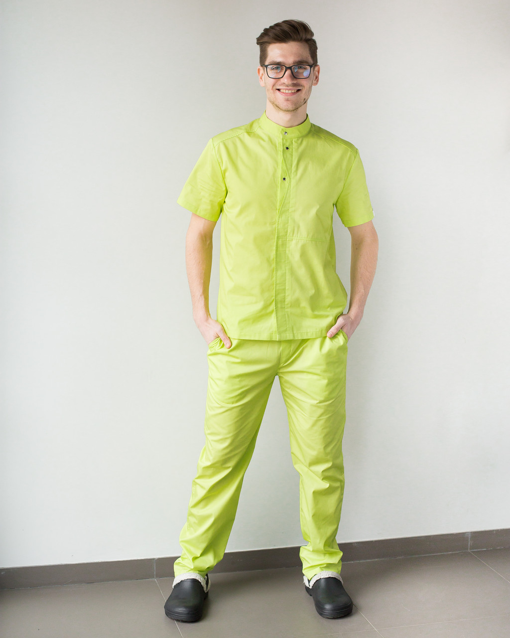 Медицинский мужской костюм Бостон лайм ,50