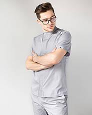 Медицинский мужской костюм Бостон серый, фото 3