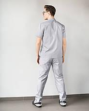 Медицинский мужской костюм Бостон серый, фото 2