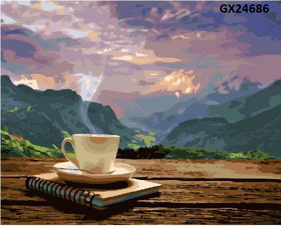 Картина по номерам. «Ранок з видом на гори» GX24686