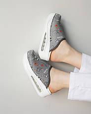 """Медицинская обувь сабо """"Health gray"""" c подошвой AirMax, фото 3"""