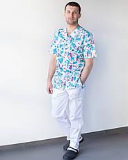 Медицинский мужской костюм Гранит принт Teeth smile, фото 3