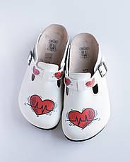 Ортопедическая обувь сабо с принтом HEART, фото 3
