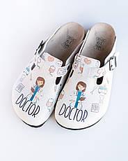 Ортопедическая обувь сабо с принтом DOCTOR WOMAN, фото 3