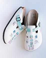 Ортопедическая обувь сабо с принтом DENTISTE, фото 2