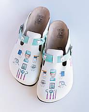 Ортопедическая обувь сабо с принтом DENTISTE, фото 3